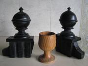 Токарные деревянные изделия вытачиваю под заказиз ценных пород . Качественно