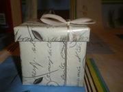Новая, красивая, праздничная коробочка с бантиком, д/романтичного подарка