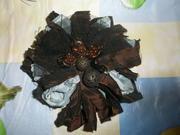 Новая, стильная, эксклюзивная, брошка-цветок из ткани, д/платья, блузы, юбки