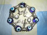 Новый, женский, красивый, яркий браслет с висюльками в восточном стиле.